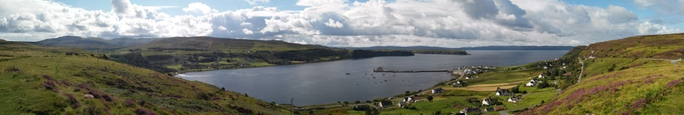 Uig Bay as seen from the opposite side of The Cowshed