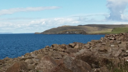 View onto Rubha Hunish from the opposite side of the bay