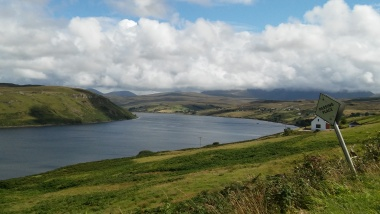View over Loch Harport from Carbost towards Drynoch