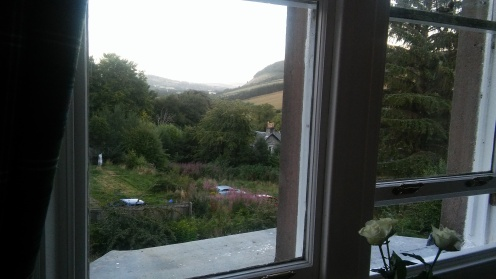 The view from our bedroom at The Holly Lodge
