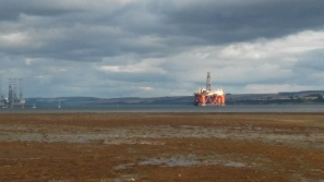 Cromarty Firth and the Oil Rigs
