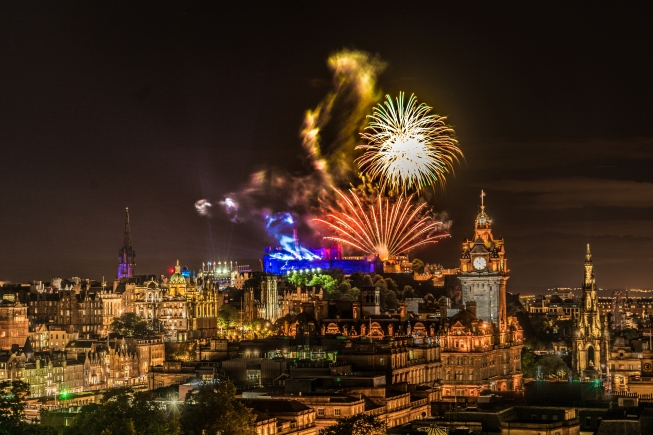 Edinburgh Tattoo Fireworks | Edinburgh, Scotland